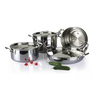 4Pcs 3-ply stainless steel cookware set