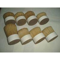 natural bleached white boar bristles