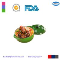 green enamel cast iron casseroles