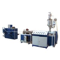 PE/PVC Single wall corrugation pipe production line