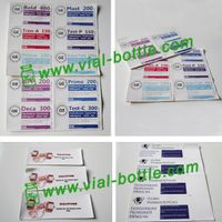 custom printing labels sticker for glass vial, serum vial or plastic bottle