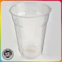 Disposable PET cup transparent