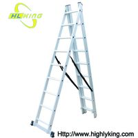 Aluminium folding Triple extension ladder(HE-309)