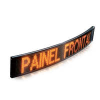 Customizable flexible SMD scrolling message electronic signs curved screen for passenger informatio