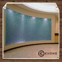 Architectural fireproof resin panel for lobby wall feature