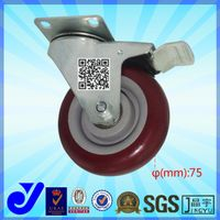 JY-303|Braking caster|Swivel wheel|Heavy duty caster