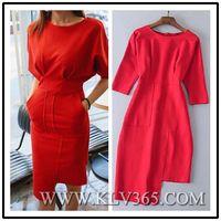 Hot Sale Women Fashion Red Celebrity Bandage Bodycon Dress