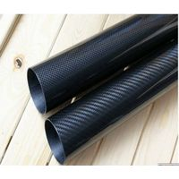 3K plain twill weave Carbon fiber tube