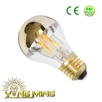 Gold mirror A60 3.5W E27 brass base LED bulb