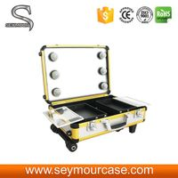 Colorful Yellow Carry Makeup Case For Studio