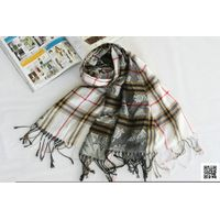 A123,grid pattern check design acrylic fashion scarf thumbnail image