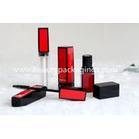 Fashionable Red Black Square Empty Mascara lipstick Tube for cosmetic Pakcage