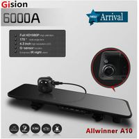Free shipping 6000A Car Rearview Mirror Car Camera DVR Recorder Full HD 1080P Car DVRs Dual Lens G-s thumbnail image