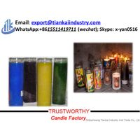 7 day glass candles wholesale thumbnail image