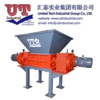 Multifuctional twin shaft shredder/ two shrears shredder/ recycled solid waste crusher machine