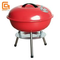Outdoor Barbecue Portable Grill 14 Inch Charcoal Kettle Grill