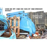 CODE NO. WT-13M3-DB-163G (CAPACITY 13M3) DREDGER BUCKET (WEIGHT 42 TONS)