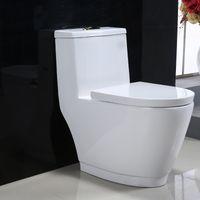 Water saving one piece western bathroom toilet