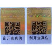 two-dimension code security hologram stickers