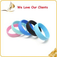 Available in various colors high quality blank silicone wristband