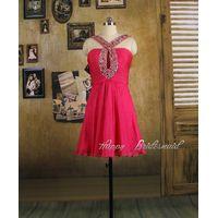 Fuchsia Short Knee Length Prom Dress, Homecoming Dress, Cocktail Dress thumbnail image