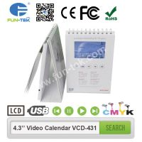 Desktop 4.3 inch Video Calendar VCD-431 A5 Portrait 256MB 600MAH Multi Buttons with 13 Pages