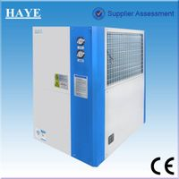 integrated air cooled industrial chiller with water tank