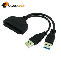 USB3.0 to SATA 7+15 Pin 22Pin Adapter Cable for 2.5 inch HDD Hard Disk Drive