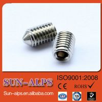 DIN914/DIN916 high-strength Hex socket cup point set screw,cone point set screw,flat point set screw thumbnail image