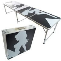 8ft portable folding beer pong table