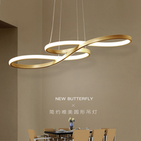 Led chandelier simple modern creative dining room lamp modern dining room lamp bar bedroom living thumbnail image