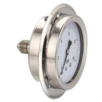panel mount liquid filled pressure gauge