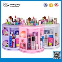 360 Rotatable Plastic Makeup and Cosmetic Organizer Storage Box