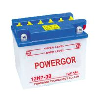 Dry charge 12n7-4a motorcycle battery