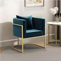 Metal Frame Velvet Sofa armchair sets for living Room Furniture thumbnail image