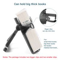 The book reading stand holder can clip the thick books as thick as 0-2.8in thumbnail image
