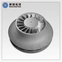 titanium precision casting turbo machinery shrouded impellers factory