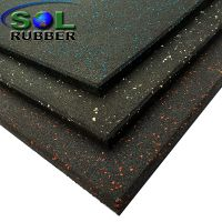 CE certificated rubber gym floor tile thumbnail image