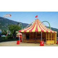 Round High Peak Tent with Colorful Roof Cover for Outdoor Events