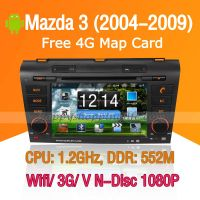 Android Car DVD Player GPS Navigation Wifi 3G for Mazda 3