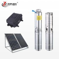 1hp 0.75kw 1inch outlet dc solar 60 meters head borehole pump deep well water pumps