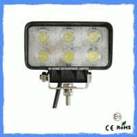 18 W 1650LM Flood Beam LED Work Lamps , Led Truck Work Lights IP67