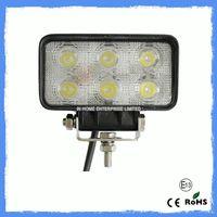 18 W 1650LM Flood Beam LED Work Lamps , Led Truck Work Lights IP67
