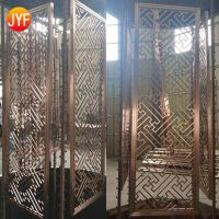 Hot sale hotel decor metal partition wall panel for private screen room divider