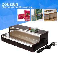 ZONESUN BOPP film heat shrink wrapping machine for perfume box Cigarettes,cosmetics film machine thumbnail image