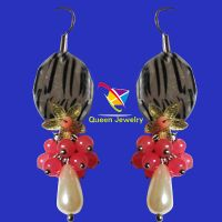 Best seller custom design beautiful charm beads ladies earrings fashion jewelry
