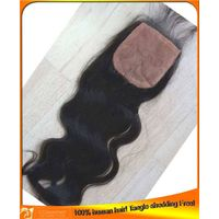 Wholesale Indian Brazilian Malaysian Human Hair Silk Base Lace Top Closure,Cheap Price Seller