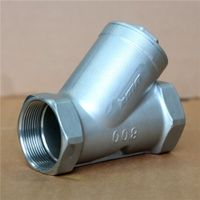 Class 150LB DN15-50mm CF8 Screw Thread Y Strainer thumbnail image