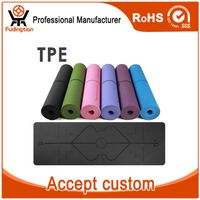 6mm Single Layer Body Line Anti-slip TPE Yoga Mat