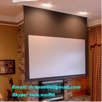 Hot saled no odor wrold popular electric projector screen/high gain motorized projector screen